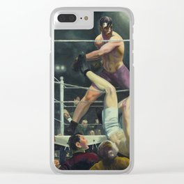 George Wesley Bellows Dempsey VS Firpo Clear iPhone Case