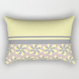 Yellow and gray mixed asymmetrical print Rectangular Pillow