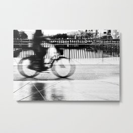 Pizza By Bike Metal Print