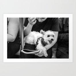 Girl & Dog Art Print