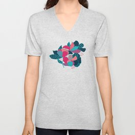 Colorful flowers Unisex V-Neck
