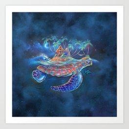 Turtle Dream Island Art Print