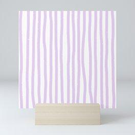 Lavender Stripes Mini Art Print