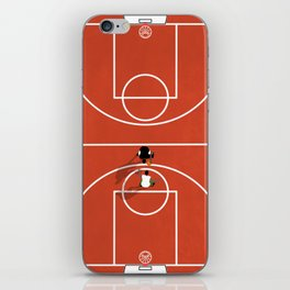 Street Basketball From Above   Aerial Illustration iPhone Skin