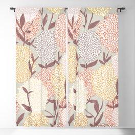 Pastel flowers Blackout Curtain