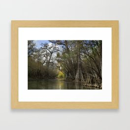 Spring Run in Winter Framed Art Print