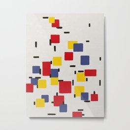 Abstract Mondrian Style Art II Metal Print