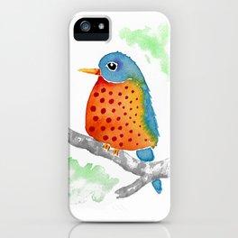 Polka Dot Bluebird iPhone Case