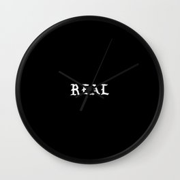 Typographic Real Hand Lettering Wall Clock
