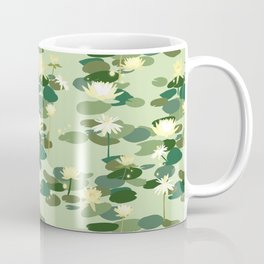 Waterlily pattern in Green Coffee Mug