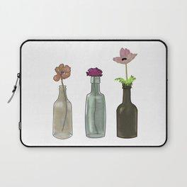 Flowers in Glass Bottles . Pastel Colors Laptop Sleeve