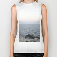 maine Biker Tanks featuring Maine Coast by AlanW