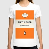 kerouac T-shirts featuring Penguin Book / On The Road - Jack Kerouac  by FunnyFaceArt