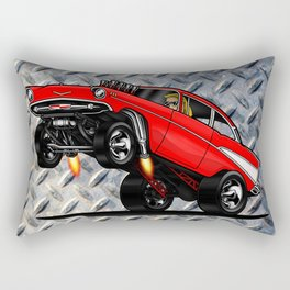 1957 Classic Chevy Gasser Rectangular Pillow