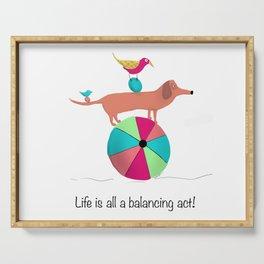 Balancing Act Serving Tray