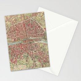 Vintage Map of Paris France (1784) Stationery Cards