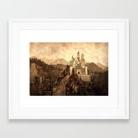 lichtenstein Framed Art Prints featuring Lichtenstein Castle by Dan99