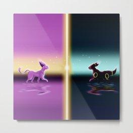 Espeon And Umbreon Metal Print