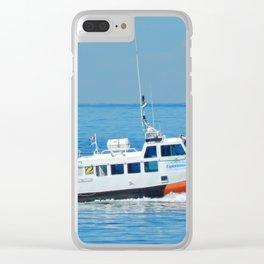 Exploramer Tour Boat Clear iPhone Case