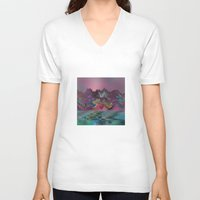 angels V-neck T-shirts featuring Angels' City by Klara Acel