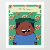 tyler the creator Art Prints featuring Tyler, The Creator by Stodium