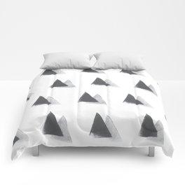 black and grey Comforters