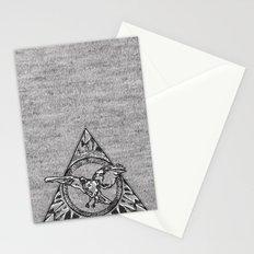 Raven On Grey Stationery Cards