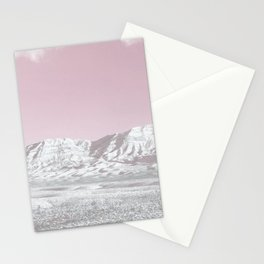 Mojave Snowcaps // Las Vegas Nevada Snowstorm in the Red Rock Canyon Desert Landscape Photograph Stationery Cards