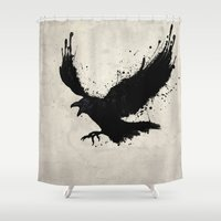 raven Shower Curtains featuring Raven by Nicklas Gustafsson
