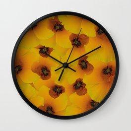 Bee flower Wall Clock