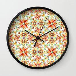Suzani Textile Pattern Wall Clock