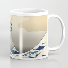 The Great Wave of Pugs Vanilla Sky Kaffeebecher