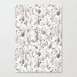 Crabby Pattern Canvas Print
