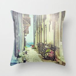 Vacancy at Provincetown Throw Pillow