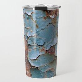 Cracked paint, abstract background Travel Mug