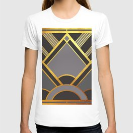 Art Deco New Tomorrow In Grey T-shirt