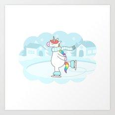 Unicorn Winter Art Print