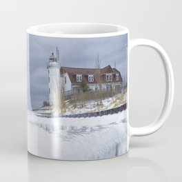 Point Betsie Lighthouse in Winter Coffee Mug