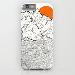 The orange sun iPhone Case