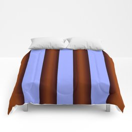 Bright Blue Brown Stripes Background Comforters