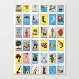 Lotería Cards Canvas Print