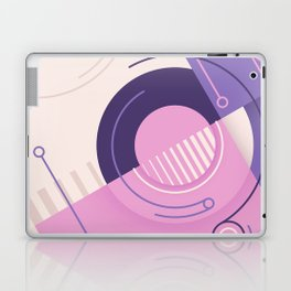 Modern geometric composition pink and blue Laptop & iPad Skin