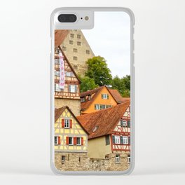 Traditional medieval German houses Clear iPhone Case