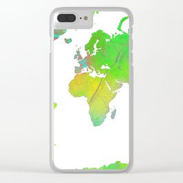 World Map 7 Clear iPhone Case