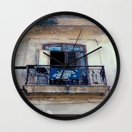 Seed Of Entrepreneurs Never Left Havana Cuba Wall Clock