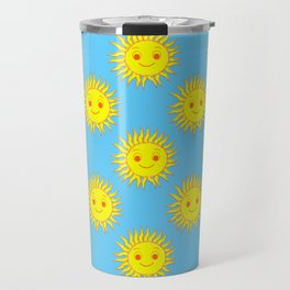 Smile Sun Face Pattern Travel Mug