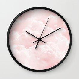 Clouds Sky Rose Wall Clock