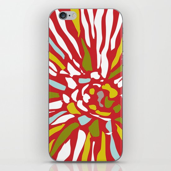 Pia - Abstract floral iPhone & iPod Skin