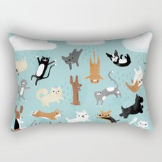 Raining Cats & Dogs Rectangular Pillow