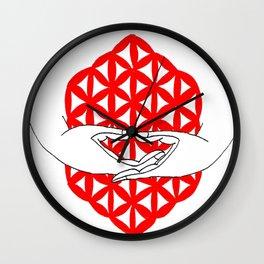dhyana mudra Wall Clock